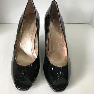 BCBG Wedge Heel Black Patent Leather Shoes